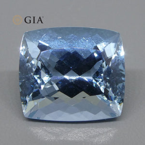 10.98ct Cushion Aquamarine GIA Certified - Skyjems Wholesale Gemstones