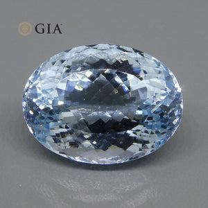 19.57ct Oval Aquamarine GIA Certified - Skyjems Wholesale Gemstones