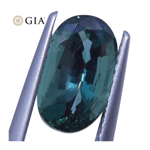 2.09 ct Oval Alexandrite GIA Certified Blue-Green to Purple
