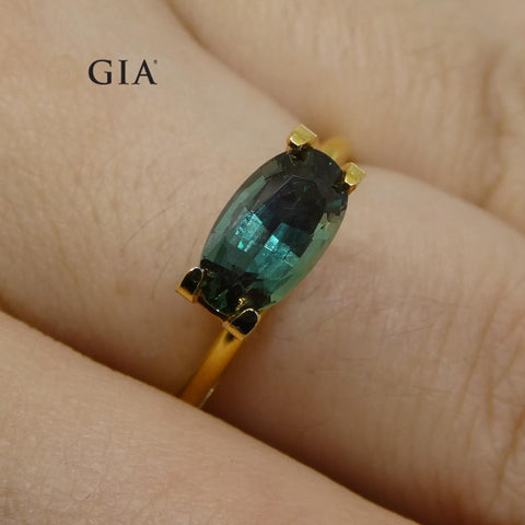 1.59ct Oval Alexandrite GIA Certified Green-Blue to Purple