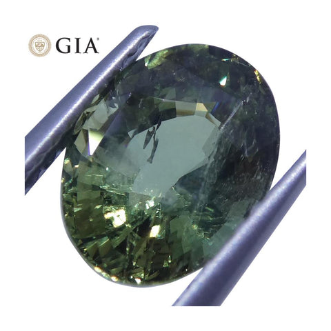 2.70 ct Alexandrite Oval GIA Certified Green to Yellow