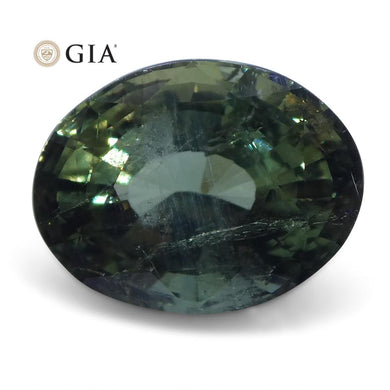2.70 ct Alexandrite Oval GIA Certified Green to Yellow - Skyjems Wholesale Gemstones