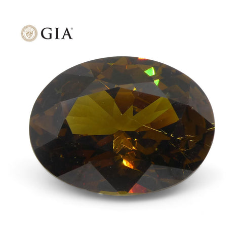 3.69 ct Oval Andradite Garnet GIA Certified