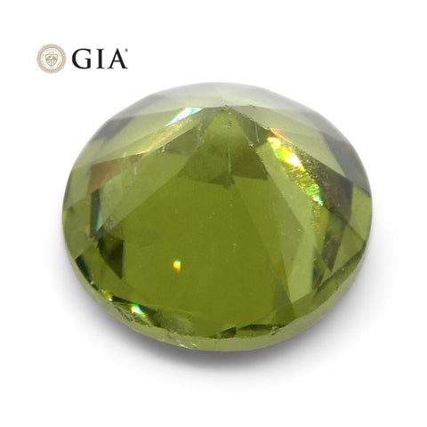 1.9ct Round Demantoid Garnet GIA Certified