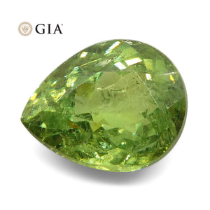 Demantoid Garnet 1.42 cts 7.67 x 6.19 x 3.76 mm Pear Yellowish Green  $900