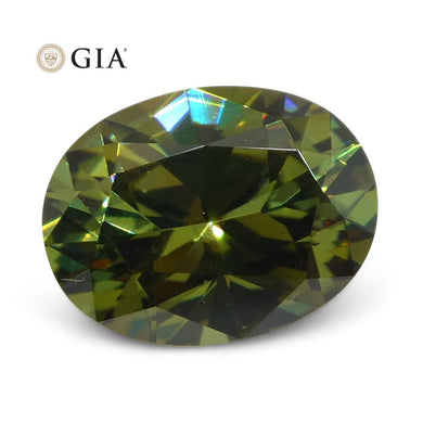 1.64ct Oval Demantoid Garnet GIA Certified - Skyjems Wholesale Gemstones