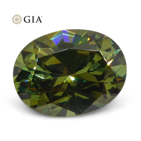 1.64ct Oval Demantoid Garnet GIA Certified