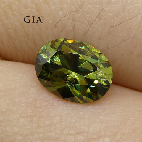 1.39ct Oval Demantoid Garnet GIA Certified
