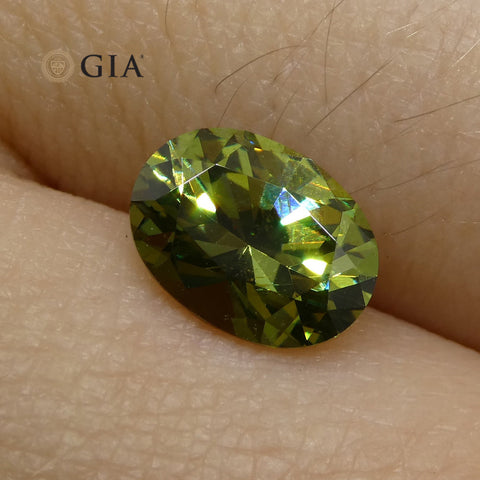 1.4ct Oval Demantoid Garnet GIA Certified