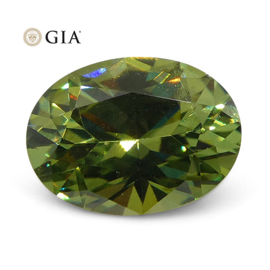 Demantoid Garnet 1.03 cts 7.43 x 5.56 x 3.52 mm Oval Yellowish Green  $2200