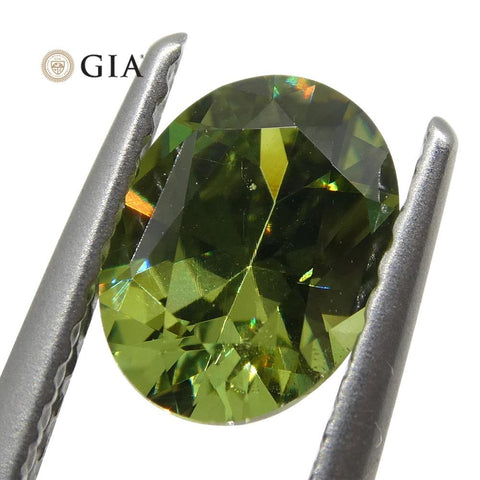 1.03ct Oval Demantoid Garnet GIA Certified