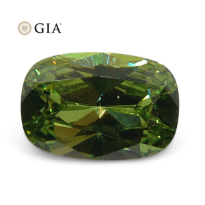 Demantoid Garnet 0.95 cts 7.47 x 5.12 x 3.09 mm Cushion Yellowish Green  $1800