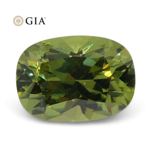 Demantoid Garnet 1.08 cts 7.05 x 5.11 x 3.90 mm Cushion Yellowish Green  $2800