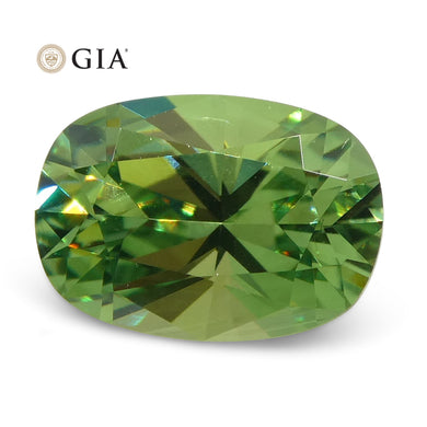 Demantoid Garnet 0.92 cts 7.08 x 5.02 x 3.53 mm Oval Green  $2000