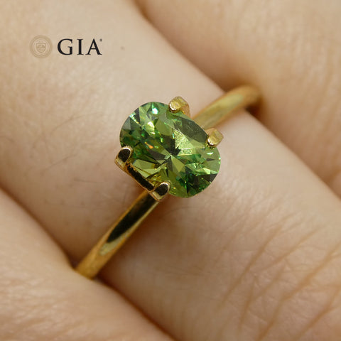 0.92ct Oval Demantoid Garnet GIA Certified