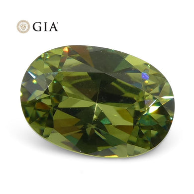 0.68ct Oval Demantoid Garnet GIA Certified - Skyjems Wholesale Gemstones