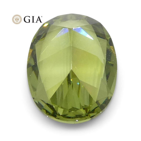 0.68ct Oval Demantoid Garnet GIA Certified