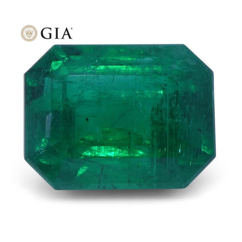 2.13 ct Emerald Cut Emerald GIA Certified