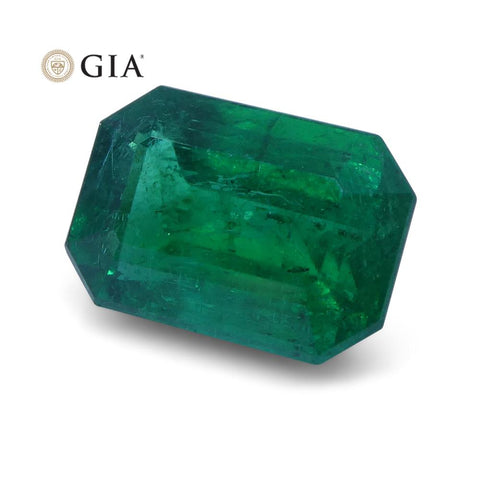 1.56 ct Emerald Cut Emerald GIA Certified