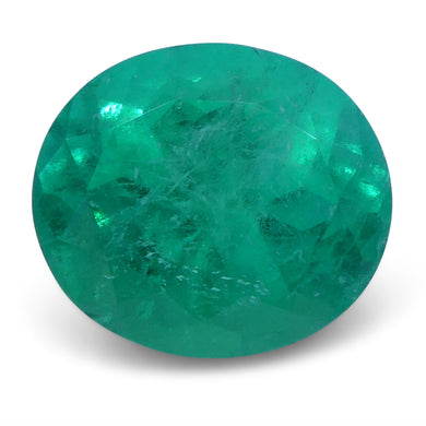 Emerald 1.63 cts 8.02 x 7.07 x 5.30 mmmm Oval Green  $4075