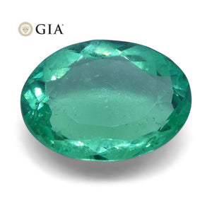 1.41 ct Oval Emerald GIA Certified Colombian - Skyjems Wholesale Gemstones