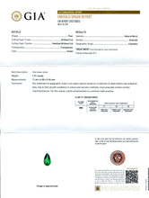 1.91 ct Pear Emerald GIA Certified Colombian