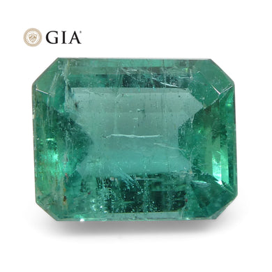 3.14ct Octagonal/Emerald Cut Emerald GIA Certified Zambian - Skyjems Wholesale Gemstones