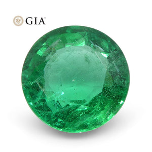 Emerald 1.28 cts 7.28 x 7.15 x 4.04 mm Round Green  $2500
