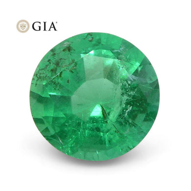 1.04 ct Round Emerald GIA Certified Zambian - Skyjems Wholesale Gemstones