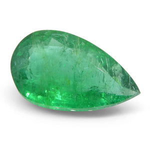 5.05 ct Pear Emerald GIA Certified Zambian - Skyjems Wholesale Gemstones