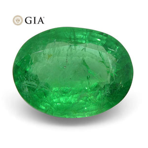 1.83 ct Oval Emerald GIA Certified Russian - Skyjems Wholesale Gemstones