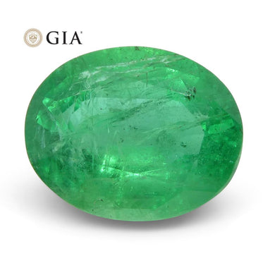 2.81 ct Oval Emerald GIA Certified Zambian - Skyjems Wholesale Gemstones