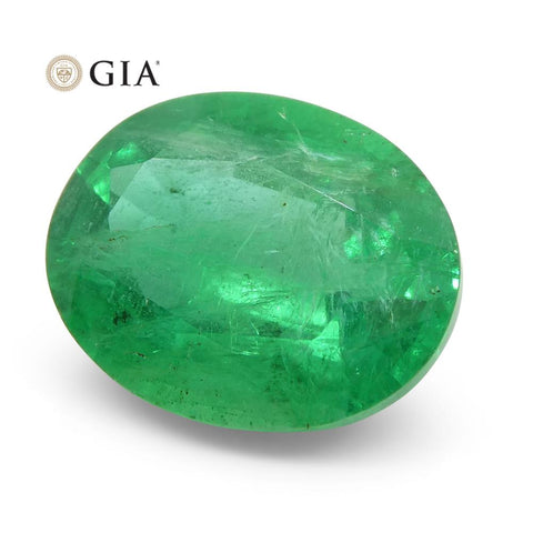 2.81 ct Oval Emerald GIA Certified Zambian
