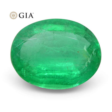 2.77 ct Oval Emerald GIA Certified Russian - Skyjems Wholesale Gemstones