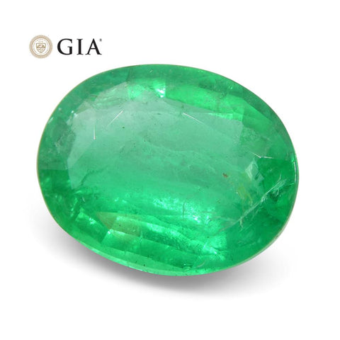 2.77 ct Oval Emerald GIA Certified Russian