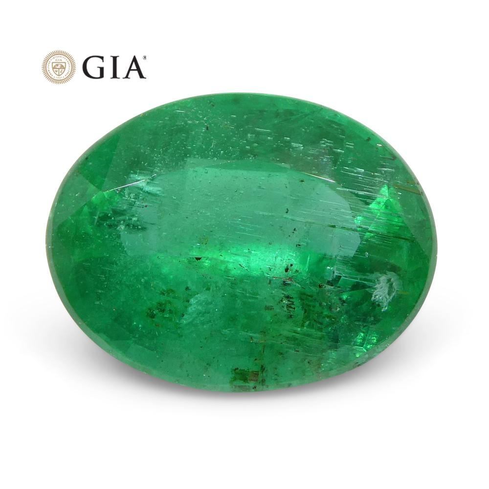 2.74 ct Oval Emerald GIA Certified Zambian F1/Minor
