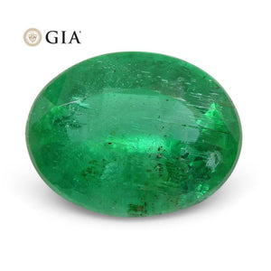 2.74 ct Oval Emerald GIA Certified Zambian F1/Minor - Skyjems Wholesale Gemstones