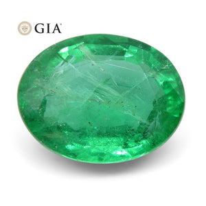 1.89 ct Oval Emerald GIA Certified Zambian - Skyjems Wholesale Gemstones