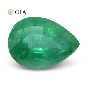 2.24 ct Pear Emerald GIA Certified Zambian - Skyjems Wholesale Gemstones