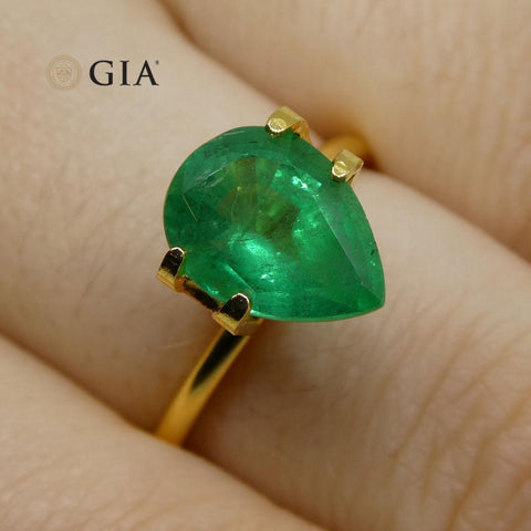 2.24 ct Pear Emerald GIA Certified Zambian