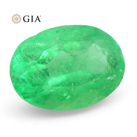 1.11 ct Oval Emerald GIA Certified Colombian F1/Minor