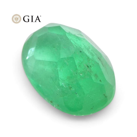 1.13 ct Oval Emerald GIA Certified Colombian F1/Minor