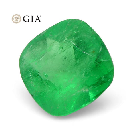 1.18 ct Cushion Emerald GIA Certified Colombian F1/Minor