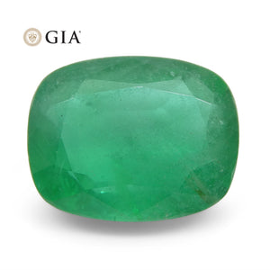 3.5ct Cushion Emerald GIA Certified Zambian - Skyjems Wholesale Gemstones