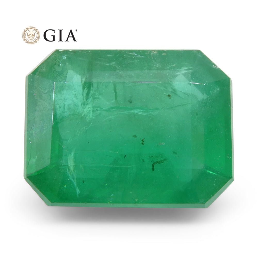 10.36ct Octagonal/Emerald Cut Emerald GIA Certified