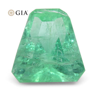 3.06ct Shield Emerald GIA Certified Ethiopian F1/Minor - Skyjems Wholesale Gemstones