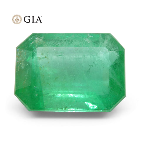 12.12 ct Octagonal/Emerald Cut Emerald GIA Certified