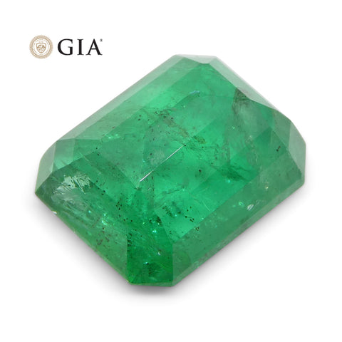 12.5 ct Octagonal/Emerald Cut Emerald GIA Certified