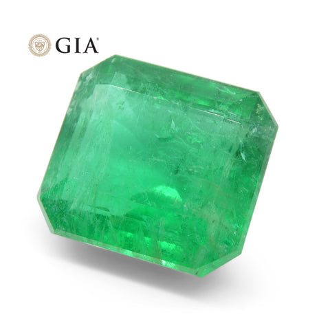 12.26 ct Octagonal/Emerald Cut Emerald GIA Certified