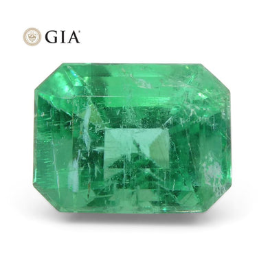 3.73 ct Octagonal/Emerald Cut Emerald GIA Certified  F1/Minor - Skyjems Wholesale Gemstones